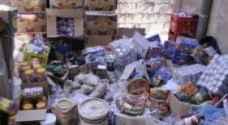 ضبط واتلاف 1.5 طن مواد غذائية في الزرقاء غير صالحة للاستهلاك