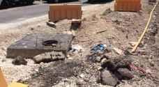 شكاوى من اعمال صيانة طالت سنوات لتوسعة احد شوارع مدينة الفحيص الرئيسية .. صور