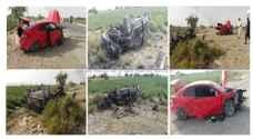 الكرك: وفاة وإصابة ثلاثة آخرين بحادث تصادم ..صور