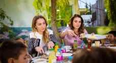 الملكة رانيا العبدالله والأميرة ايمان بنت عبدالله تتفقد أحوال الأيتام في مؤسسة الحسين الاجتماعية