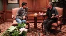 الملك يلتقي رئيس وزراء كندا