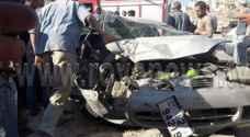 اربد: وفاة و 19 اصابة في حادث تصادم .. صور
