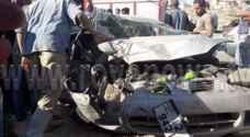 """20 إصابة """" متوسطة """" بحادث تصادم في إربد"""