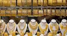 انخفاض أسعار الذهب نصف دينار للغرام الواحد