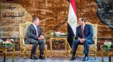 """الملك والسيسي يثمنان بيانًا لـ """" مركزية حركة فتح """""""