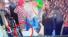 بالصور.. فتاة تسرق محال تجارية بمنطقة الوحدات