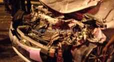 بالصور.. 7 اصابات بحادث تصادم ثلاث مركبات في عمان
