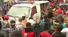 فيديو عنيف.. سيارة شرطة بالفلبين تدهس متظاهرين
