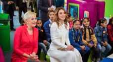 الملكة والسيدة الأولى لبولندا تزوران متحف الأطفال الأردن