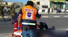 اصابة شاب فلسطيني برصاص الاحتلال الاسرائيلي جنوب نابلس