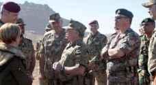جلالة القائد الأعلى يتابع تمريناً عسكرياً مشتركاً