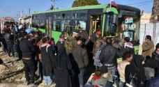 استئناف إجلاء المدنيين من حلب
