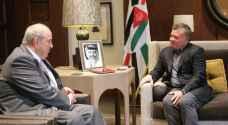 الملك يلتقي نائب الرئيس العراقي الدكتور إياد علاوي