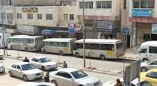اعتصام سائقي الحافلات العمومية في عجلون.. صور