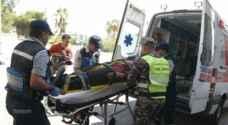 إصابتان بحادث تدهور قلاب في الطفيلة