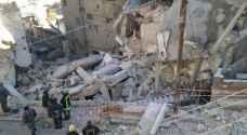 انهيار عمارتين جديدتين في جبل الجوفة.. فيديو وصور