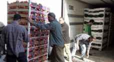 الأردن يصدر 19 ألف طن خضار وفواكه إلى الخليج