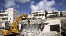 الاحتلال يهدم منزلا قيد الإنشاء في العيسوية شمال القدس المحتلة