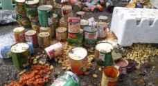 ضبط 25 طن مواد تموينة منتهية الصلاحية في المقابلين