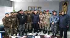 وفد من كلية الأمير الحسين العسكرية يزور جمرك 'حرة الزرقاء'