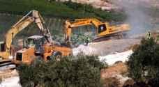 الاحتلال يجرف أراضي في سلفيت لتوسيع مستوطنة اسرائيلية