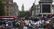 آلاف المتظاهرين في لندن دفاعا عن النظام الصحي العام