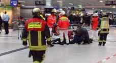 مهاجمون بفؤوس يوقعون جرحى بمحطة قطارات في ألمانيا ..فيديو وصور