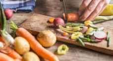 تقشير الخضراوات يزيل عنها العناصر المفيدة