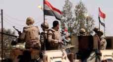 مصر: مقتل 14 ارهابيا وتدمير عربتين تابعتين لهم