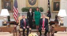 الملكة رانيا تنشر صورة لها بمعية الملك في امريكا