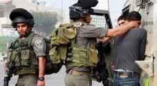 اعتقال 19 فلسطينيا في الضفة الغربية