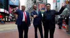 'أشباه' ترمب وأوباما وكيم في شوارع هونغ كونغ