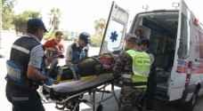 اصابة 6 اشخاص بانقلاب مركبة في عجلون