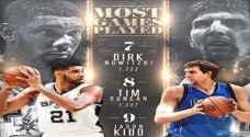 NBA .. أكثر اللاعبين خوضا للمباريات في تاريخ الدوري