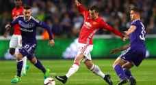 أندرلخت يجبر مانشستر يونايتد على التعادل في وقت قاتل