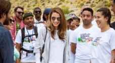 بالصور ..الملكة رانيا العبد الله: وقت رائع في قرية ضانا الجميلة