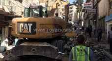 إنهيار يغلق شارعا في وسط عمان..صور