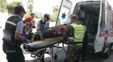 إصابة ١٥ شخصا بحادث تصادم في عجلون