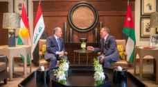 الملك يستقبل رئيس إقليم كردستان العراق