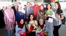 الطلبة المشاركون بمسابقة إنتل للعلوم والهندسة يصلون عمان