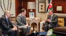 الملك يستقبل وزير الدفاع القبرصي