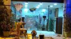 مجهولون يحطمون محتويات نادي الجزيرة الرياضي في عمان..صور