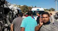 وفاة و ١٧ إصابة بحادث سير مروع على طريق دير السعنة بإربد