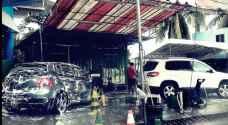 صاحب محطة غسيل سيارات في السلط يسرق مياه خط رئيسي