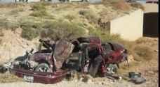 وفاتان بحادث سير في الكرك