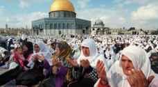 نحو ٣٠٠ ألف فلسطيني صلوا في الأقصى بثالث جمع رمضان