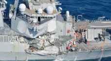 فقدان ٧ بتصادم مدمرة أمريكية بسفينة تجارية فلبينية