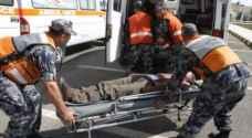 وفاة وإصابتان بتصادم شاحنة وتركتور على طريق المطار