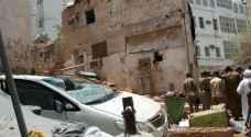 شاهد بالصور..المبنى الذي كان الانتحاري يتحصن بداخله في مكة