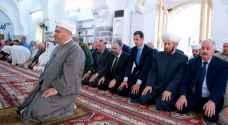 الأسد يؤدي صلاة العيد في حماة